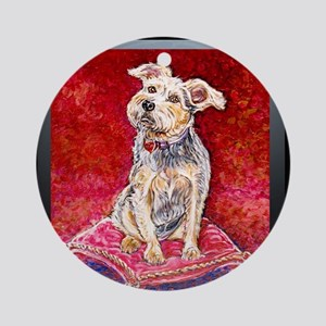 Terrier Mix Dixie Ornament (Round)
