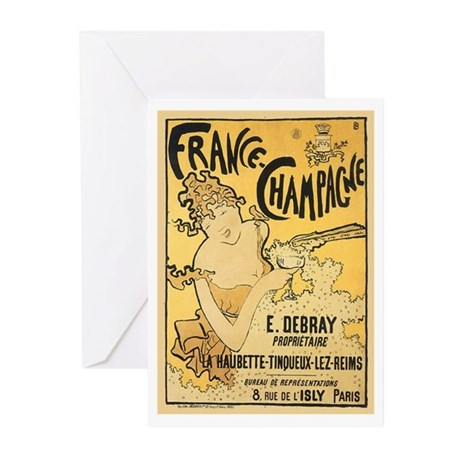 E Debray French Champagne Greeting Cards (Pk of 20
