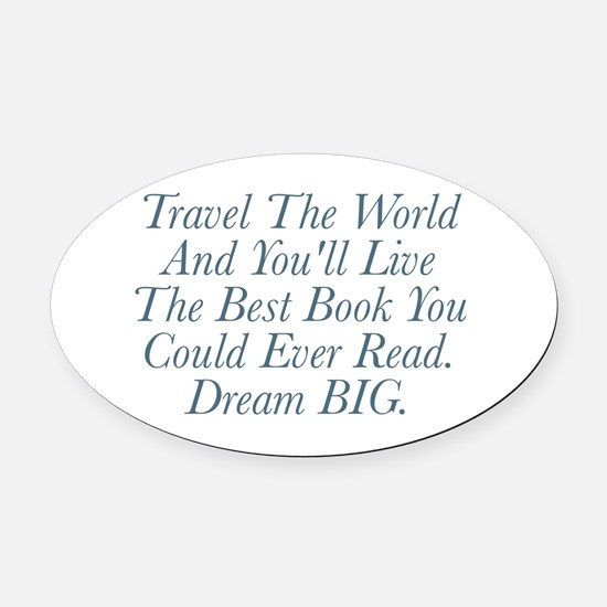 Live The Best Book Oval Car Magnet