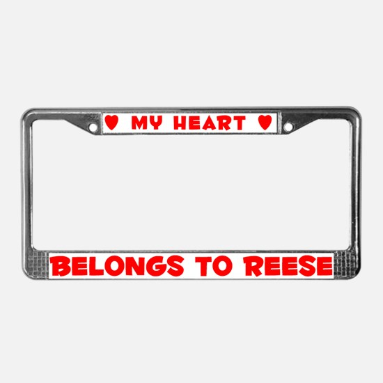 Heart Belongs to Reese - License Plate Frame