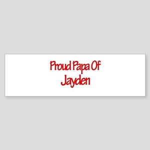 Proud Papa of Jayden Bumper Sticker