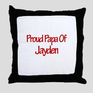 Proud Papa of Jayden Throw Pillow