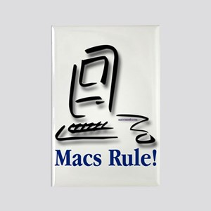 Macs Rule! Rectangle Magnet