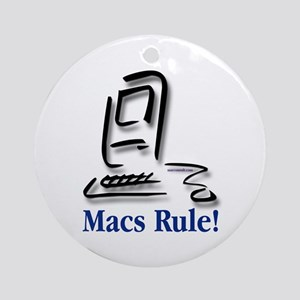 Macs Rule! Ornament (Round)