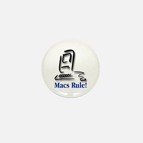 Macs Rule! Mini Button