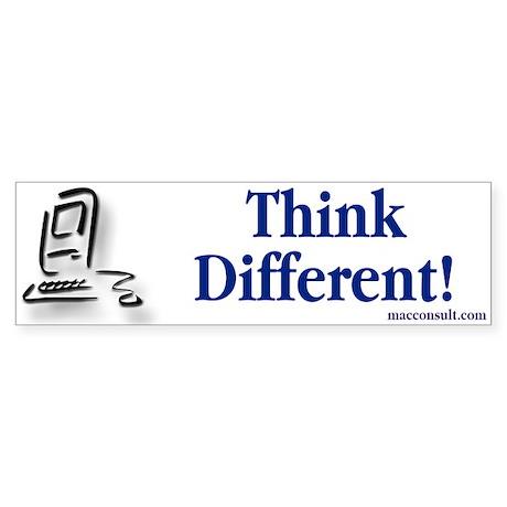 Think Different! Bumper Sticker