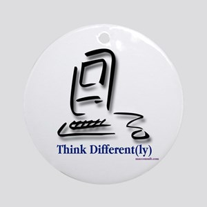 """""""Think Different(ly)"""" Ornament (Round)"""