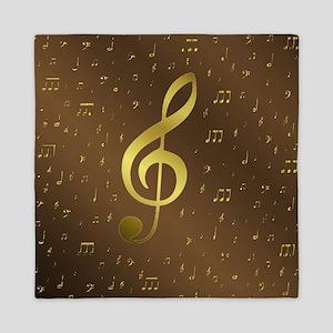 golden music notes Queen Duvet