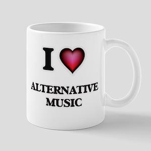 I Love ALTERNATIVE MUSIC Mugs
