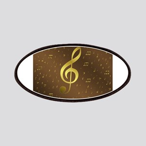 golden music notes Patch