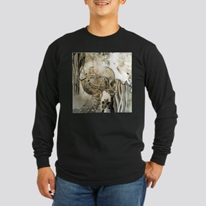 Awesome technical skull Long Sleeve T-Shirt