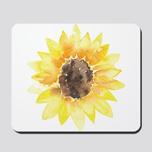 Cute Yellow Sunflower Mousepad