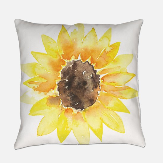 Cute Yellow Sunflower Everyday Pillow