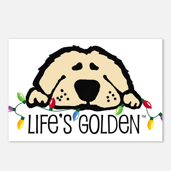 Life's Golden Christmas Postcards (Package of 8)
