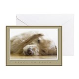 Golden retriever Greeting Cards (10 Pack)