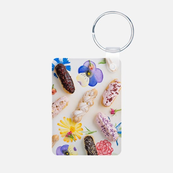 Eclairs with toppings Keychains