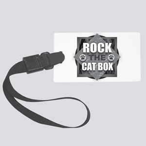 Rock Cat Box Large Luggage Tag