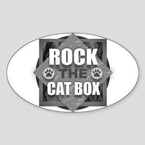 Rock Cat Box Sticker
