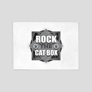 Rock Cat Box 5'x7'Area Rug