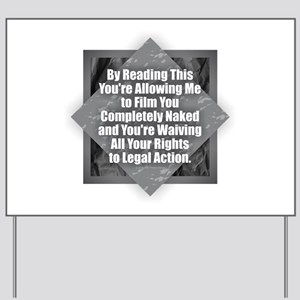 Film Naked Yard Sign