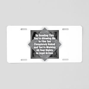Film Naked Aluminum License Plate