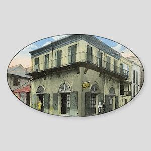 Vintage Bourbon St. Absinthe Oval Sticker