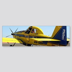Air Tractor aircraft (yellow and bl Bumper Sticker