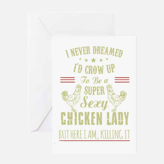 Unique Chicken Greeting Card