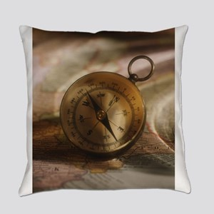 vintage compass Everyday Pillow