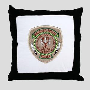 Umatilla Tribal Police Throw Pillow
