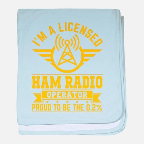 I am a licensed ham radio T-shirt baby blanket