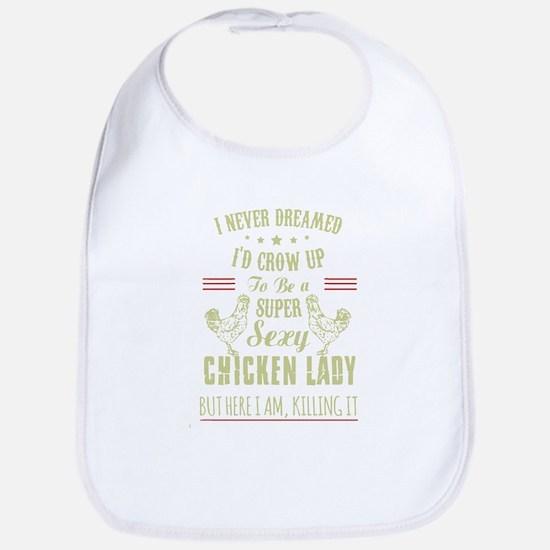 Chicken lady T-shirt Bib