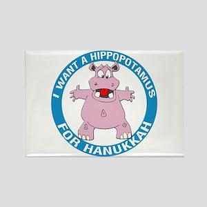Hippopotamus For Hanukkah Rectangle Magnet