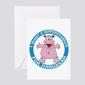 Hippopotamus For Hanukkah Greeting Card