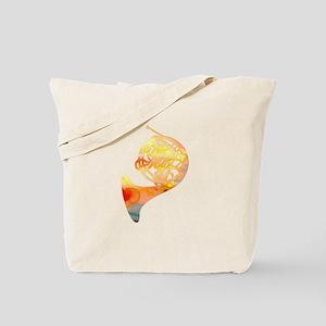Watercolor Horn Tote Bag