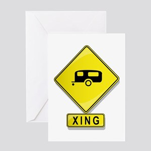 Trailer XING Greeting Card