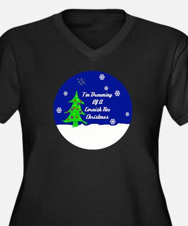 A Cornish Rex Christmas Women's Plus Size V-Neck D