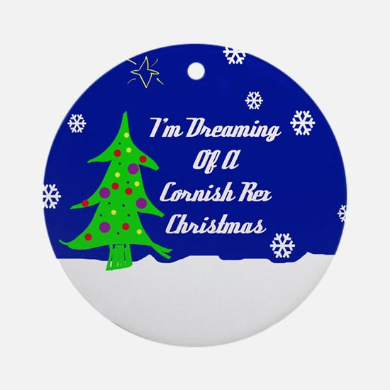 A Cornish Rex Christmas Ornament (Round)