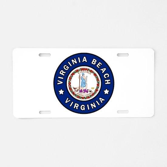 Virginia Beach Aluminum License Plate
