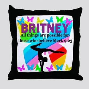 CHRISTIAN GYMNAST Throw Pillow