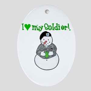 Army Love Oval Ornament