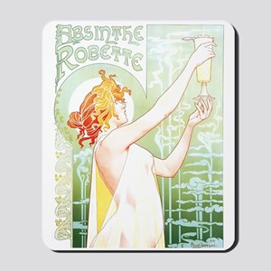 Robette Absinthe Poster Mousepad