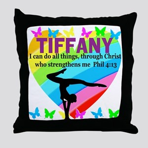 CHRISTIAN GYMNAST Throw Pillow