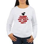 Zombies Squirrels Women's Long Sleeve T-Shirt