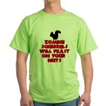 Zombies Squirrels Green T-Shirt