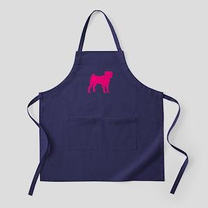 Pug Pink 1 Dark Apron (dark)