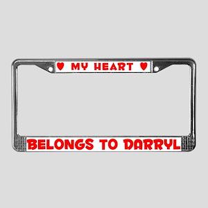 Heart Belongs to Darryl - License Plate Frame