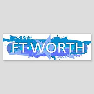 Fort Worth Design Bumper Sticker