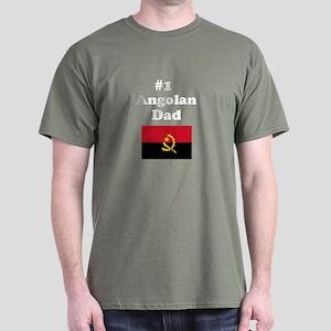 #1 Angolan Dad Dark T-Shirt