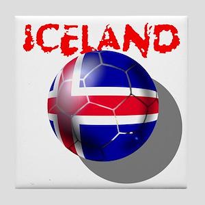 Icelandic Soccer Tile Coaster